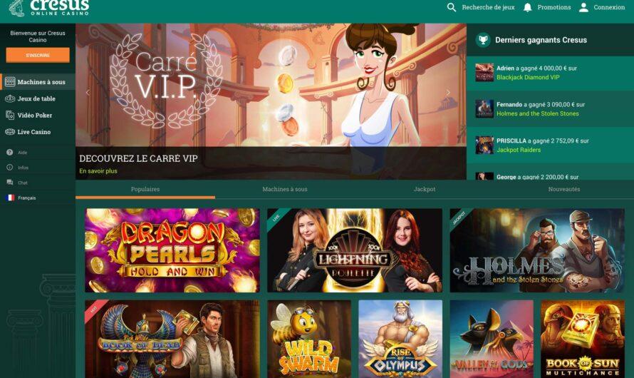 Casino cresus : le leader des casinos en ligne français ? Notre avis